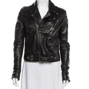 BLK DNM Leather Moto Jacket, Size Small S